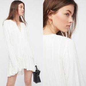 NWT Free People Ruffled Your Girl Tunic Dress S